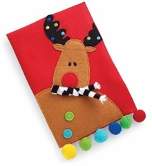 Holiday Linen Towels : Mud Pie Holiday Reindeer Linen Towel