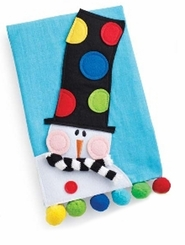 Holiday Linen Towels : Mud Pie Holiday Snowman Linen Towel