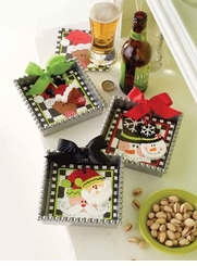 Holiday or Christmas Napkin Holders (with napkins) -  Choose Style