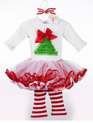 Holiday Tutu 3 Pc Set - Perfect for Christmas 12-18 month