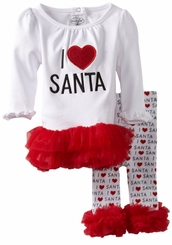 Mud Pie I Love Santa Tunic and Legging Set