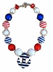In Fashion Kids Patriotic Anchor Necklace