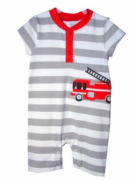 Infant Baby Boys Fire Truck One Piece