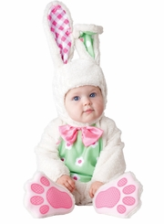 Infant Baby Costumes: Deluxe White Bunny Costume