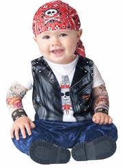 Infant Boy Halloween Costume: Baby Biker Costume sold out