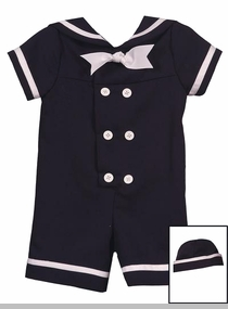 Infant Boys Sailor Suit With Hat - Navy E664063  - SOLD OUT