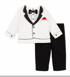 Infant Boys Tuxedo Pant Set