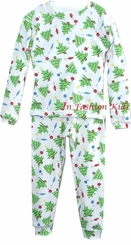 Infant Christmas Pajamas - Christmas Trees  SALE 9 month