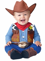 Infant Cowboy Costume:  Baby Western Wrangler Costume Size 12-18 months