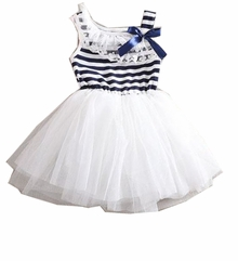 Infant or Girls White Navy Sailor Tutu Dress - sold out