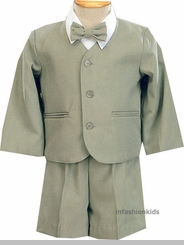 Infant Or Toddler Boys Eton Suit - Sage Green
