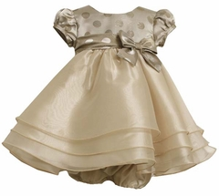 Infant or Toddler Girls Gold Dress  - sold out