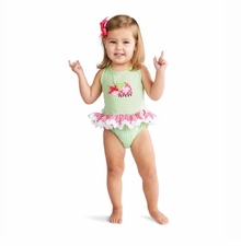 Infant or Toddler Swimsuit - One Piece Ladybug