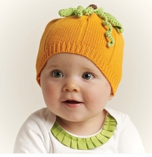 Infant Pumpkin Hat - Sweater Knit
