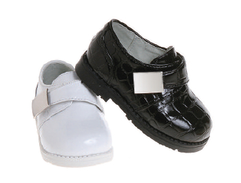Josmo Infant Toddler Boys Dress Shoes - Croco Patent