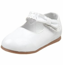 Infant / Toddler Girls White or BEIGE Dress Shoes