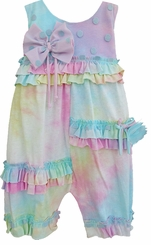 Isobella and Chloe Baby Girls Just Groovy Newborn Rompar