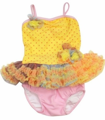 Isobella and Chloe Baby Girls Sunshine Tankini Swimsuit