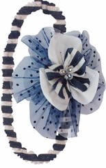 Isobella and Chloe Little Girls Navy Marina Headband
