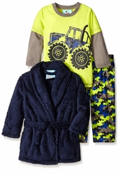 Kids Bunz Little Boys Camo Truck Robe Pajama Set