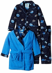 Kids Bunz Little Boys Space Cadet Robe Pajamas Set