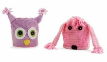 Kids Hats - Choose PURPLE OWL or PINK POODLE