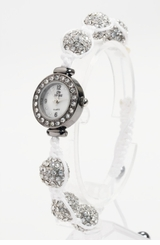 Ladies Watch -  WHITE Sparkle Balls