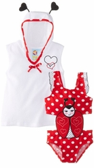 Ladybug Infant or Girls Swimsuit and Coverup Robe - sold out