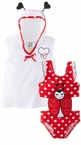 Ladybug Infant or Girls Swimsuit and Coverup Robe