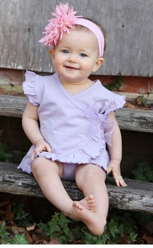Lavender Ruffled and Wrapped Tee