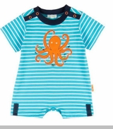 Le Top Baby Boys Octopus Stripe Romper � Ocean Adventure