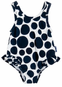 Le Top Baby Girls Dot Swimsuit with Hip Ruffle � Sail Away