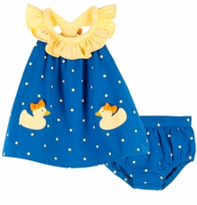 Le Top Baby-Girls Ducky Sundress and Panty
