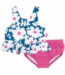 Le Top Baby-Girls Floral Print Ruffle Tankini Swimsuit Set - sold out
