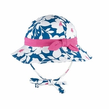 Le Top Baby-Girls Floral Print Sunhat with Knotted Bow