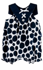 Le Top Baby Girls Polka Dot Bubble Romper � Sail Away - sold out
