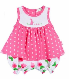 Le Top Baby Girls Sleeveless skirted romper BUNNY�S GARDEN