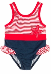 Le Top Baby-Girls Starfish Swimsuit One Piece