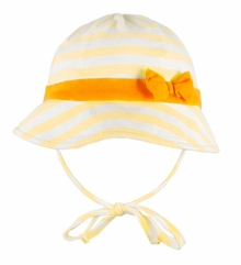 Le Top Baby-Girls Yellow Stripe Sunhat
