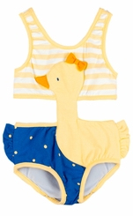 Le Top Little Girls Duck Monokini Swimsuit