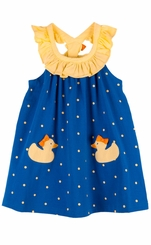 Le Top Little Girls Ducky Dot Sundress - sold out