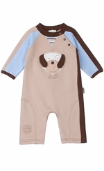 Le Top - Puppy Cotton Coverall - 9 month LAST ONE FINAL SALE
