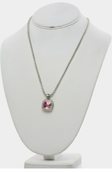 Light Rose CZ Designer Inspired Pendant Necklace