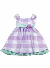 Rare Editions Little Girls Lilac Mint Plaid Dress - SOLD OUT