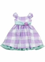 Rare Editions Little Girls Lilac Mint Plaid Dress EASTER SALE