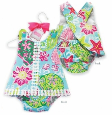 Lily Pad Pinafore and Bloomer Set - sold out