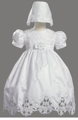 Lito Baby Girls Christening Gown and Bonnet - SOLD OUT