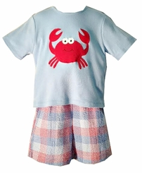 Little Boys Crab Short Set Toddler