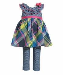 Little Girl's: Newborn Navy Stripe to Knit Legging Set CLEARANCE-FINAL SALE