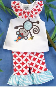 Little Girls Monkey Tunic and Legging Set - sold out